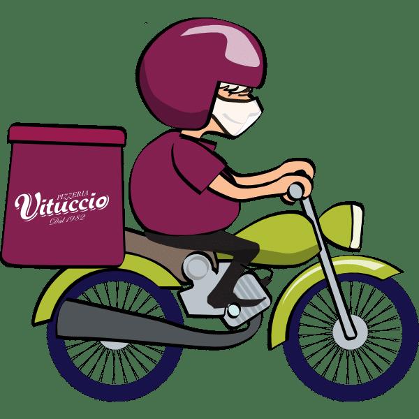 Delivery Vituccio Motoboy levando a pizza até você